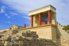 Knossos slott - Kreta, Grekland Royaltyfria Bilder