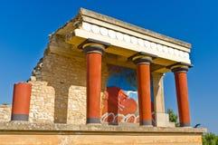 Knossos slott nära Heraklion, ö av Kreta Royaltyfri Bild