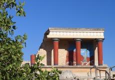 Knossos slott på den Crete ön i Grekland Arkivfoto