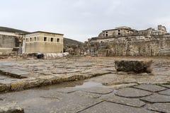 Knossos slott på Kreta royaltyfria bilder