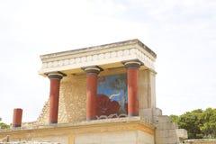 Knossos slott p? Kreta royaltyfri fotografi