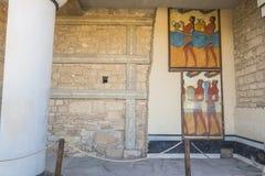 Knossos slottKreta Royaltyfri Fotografi