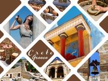Knossospaleis het Paleis in van Kreta, Griekenland Knossos royalty-vrije stock foto
