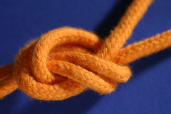 Knot. Macro of a cord knot Stock Images