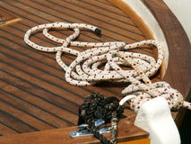 Knot. A knot on a boat Royalty Free Stock Image