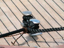 Knot. A knot on a boat Royalty Free Stock Photos