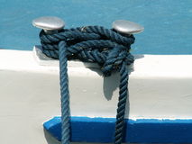 Knot. A knot on a boat Stock Image