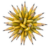 Knot. 3D concept with the pencils in the knot Stock Photos