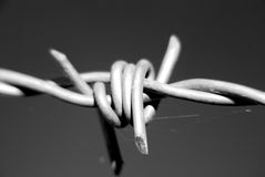Knot. Made of wire and used to prohibit the passage of certain places Royalty Free Stock Photos