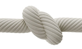 Knot. On a white background Stock Photos