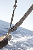 Knot. Nautical knot of a boat Stock Image