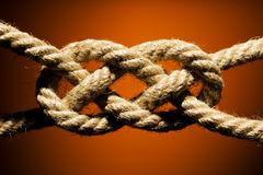 Knot. Close up shot of a rope with a knot Stock Photos