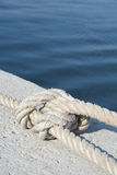 Knot. Closeup view of knot on a tight rope Royalty Free Stock Images