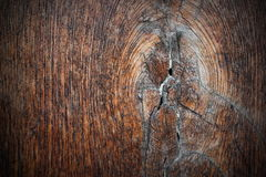 Knot on ancient oak plank Stock Photography