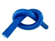 knot  from aqua noodle isolated  Stock Image