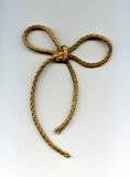 Knot bind with rope from natural fibers Royalty Free Stock Image
