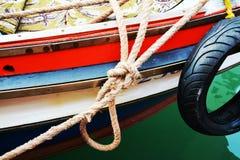 Knot and boat, Venice, Italy Stock Photo
