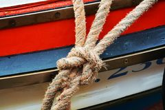 Knot of a boat, in Venice, in Italy, Europe Royalty Free Stock Photos