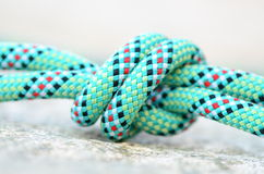 Knot on a climbing rope Stock Photos