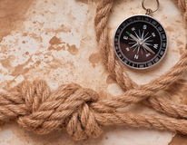 Knot and compass Stock Photography