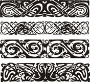 Knot designs in celtic style with birds Royalty Free Stock Photo