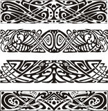 Knot designs in celtic style with birds Stock Photography