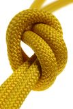 A knot on double yellow rope Royalty Free Stock Images