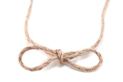 Knot in the form of a bow Stock Photos