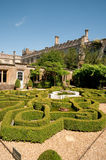 Knot garden and the castle Royalty Free Stock Images