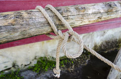 Knot on a hitching post Royalty Free Stock Image