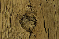 Knot hole in wood Royalty Free Stock Photography