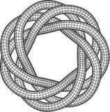 Knot Illustration. Black and White Knot Illustration Stock Photography