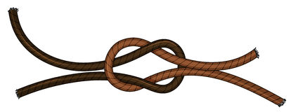 Knot. Illustration of a close up knot Stock Images