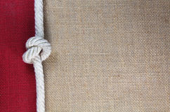 Knot with jute Stock Image