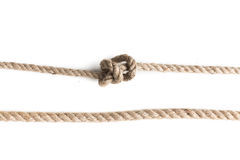 Knot of jute rope Royalty Free Stock Photo