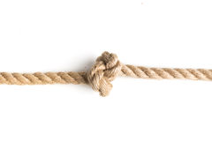 Knot of jute rope Stock Images