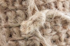 A knot of jute string from the background. royalty free stock photo