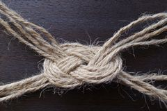 Knot from the jute twine Stock Image