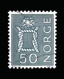 Knot, Local Motives, serie, circa 1968. MOSCOW, RUSSIA - MAY 13, 2018: A stamp printed in Norway shows Knot, Local Motives, serie, circa 1968 Royalty Free Stock Photos