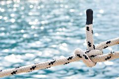 Knot on marine rope Stock Photography