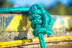 Knot of a mooring line Royalty Free Stock Image