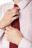 Knot necktie Stock Image