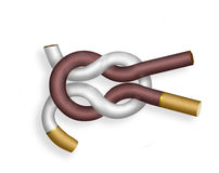 Knot.  No smoking! Royalty Free Stock Images