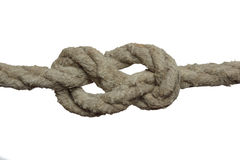 Knot on the old rope. Royalty Free Stock Photography