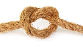 Knot on old rope Stock Photos