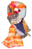 Knot from patchwork and batik scarf isolated Royalty Free Stock Photography
