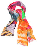 Knot from patchwork and batik silk scarf isolated Royalty Free Stock Photography