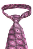 Knot pink tie Royalty Free Stock Images