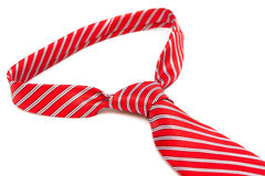 Knot red necktie Royalty Free Stock Photography