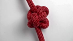Knot in a red string stock video